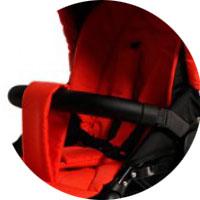 Регулируемые пятиточечные ремни безопасности с регулировкой по высоте