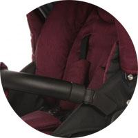 Регулируемые пятиточечные ремни безопасности с регулировкой по высоте в прогулочном блоке